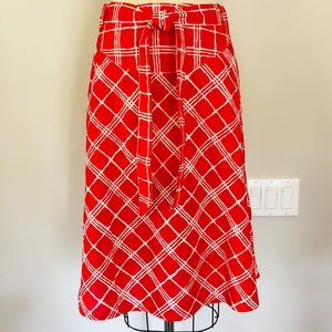 Authentic Burberry printed wrap skirt.